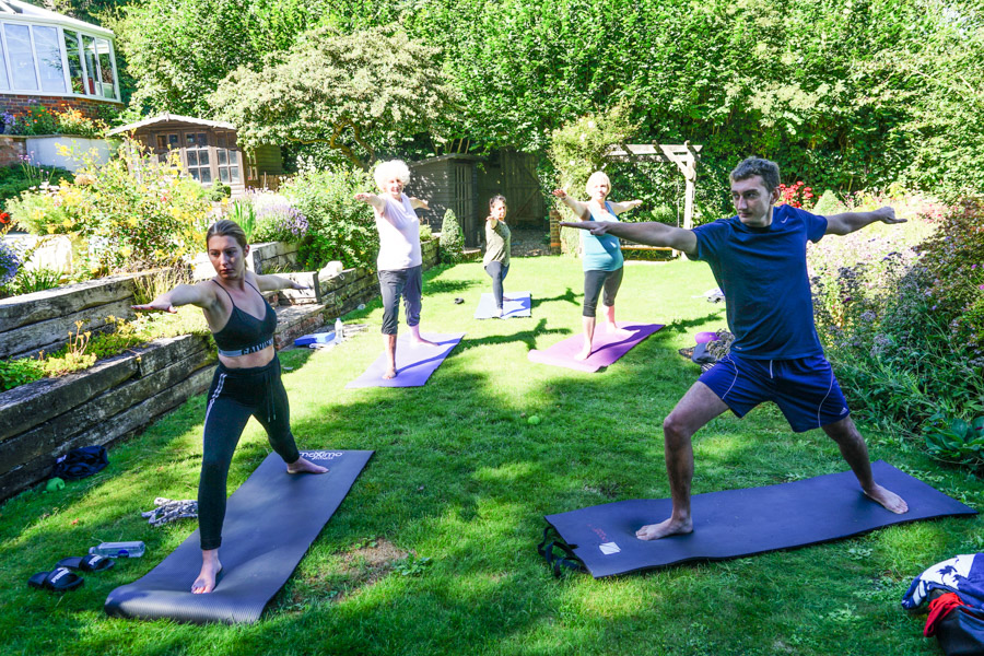 outdoor yoga class Chorleywood